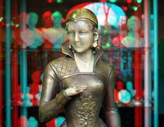 https://flic.kr/p/e2UEkV | Galerie Van Waning 3D | Westersingel Rotterdam anaglyph red/cyan