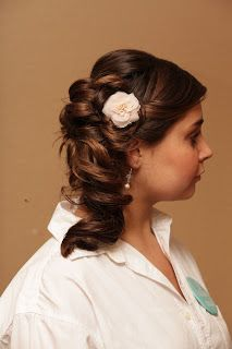 McKennas Wedding by Mommy Does Hair/ side up-do
