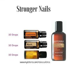 doTERRA Wellness Advocate: get discount for all the essential oils! Learn how to start as a dōTERRA WELLNESS Advocate or just buy as a Wholesale Member Do you want stronger nails and softer cuticles? Try this recipe: Mix 10 drops of… Essential Oil Uses, Natural Essential Oils, Essential Oil Diffuser, Myrhh Essential Oil, Elixir Floral, Lotion, Strong Nails, Aromatherapy Oils, Doterra Essential Oils