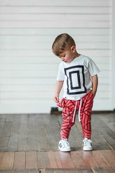 We're loving this Athleisure style for kids.... SO cute! Blood orange joggers…