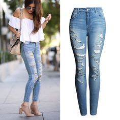 New High Waist Jeans //Price: $33.95 & FREE Shipping //     #fashion