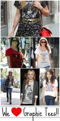 Celebs rocking Graphic Tees! I love graphic tees! Gotta get more!