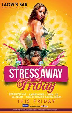 Partygrenada.com: STRESS AWAY FRIDAY @ Laow's Bar