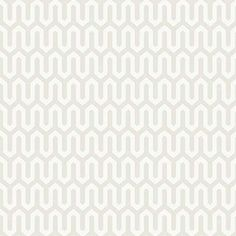 Scandinavian Designers Arne Jacobsen Ypsilon 2734 Fleece Wallpaper - Light-Grey and White
