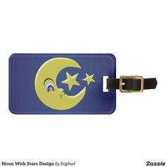 Moon With Stars Design Travel Bag Tag
