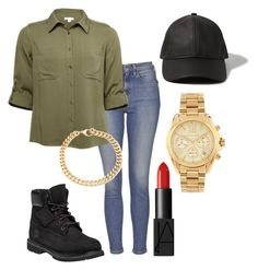 """""""I was dancing merengue and salsa all night!!"""" by glamnoodle on Polyvore featuring Abercrombie & Fitch, Topshop, Timberland, NARS Cosmetics, Alessandra Rich and Michael Kors"""