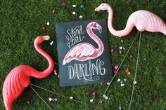 Flamingo Print  Stand Tall Darling  Girl's Room Art  by LilyandVal, $19.00