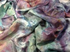 "Hand+dyed+silk+habotai+55""+wide+gemstones+great+adirondack+by+SweetHorseDesignCo+on+Etsy"