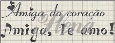 HOJE VOU POSTAR ALGUMAS FRASES QUE PEGUEI NA FAN PAGE Gráficos de  nomes, frases, etc para ponto cruz . O TRABALHO QUE ELES FAZEM É LINDO, ...