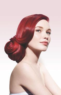 For shiny, vibrant hair color that stays truer, learn more about our new hair care line, Biolage COLORLAST. Hair Color For Warm Skin Tones, Vibrant Hair Colors, Bright Hair, Red Velvet Hair Color, Red Hair Color, Color Red, Colour, Feria Hair Color, Biolage Hair