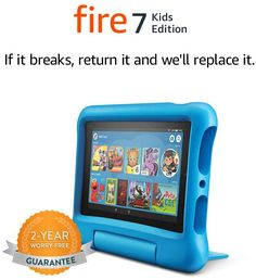 In the time of corona, use your child's time for fun and education Wonderful device for children ll-New Fire 7 Kids Edition. If they break it, return it and we'll replace it. No questions asked. New Electronic Gadgets, Electronic Gifts, Electronics Gadgets, Technology Gadgets, Tech Gadgets, Kids Tablet, Tablet 7, Tablet Holder