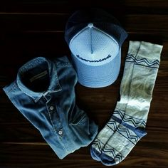 Shades of blue for this outfit of the day from Doormind.com