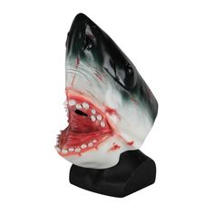 Latex Animal Mask Carnival Costume Accessory Novelty Halloween Party Head Mask Shark Fancy Dress Party Ocean Fish Cosplay Mask Costumes & Accessories Boys Costume Accessories