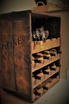 Winerack, pallet, recycled