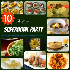 Superbowl Football Party Recipes