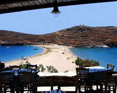 Kolona beach on Kythnos island, Greece Dream Vacations, Vacation Spots, Porches, Places To Travel, Places To See, Myconos, Paradise On Earth, Greek Islands, Greece Travel