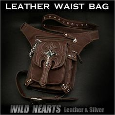 Leather Waist Bag Leather Waist Fanny Pack WILD HEARTS Leather&Silver  http://item.rakuten.co.jp/auc-wildhearts/wb2425t36/