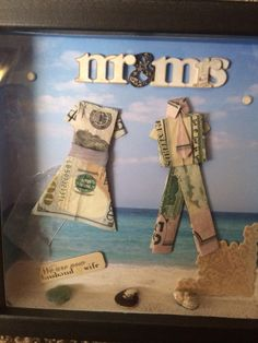 Money shadow box for wedding gift