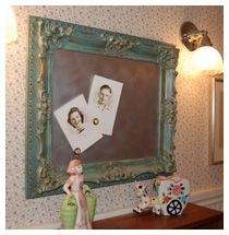 magnetic board in old picture frame