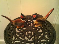 Collectible Vintage Pheasant Salt and Pepper Shakers by cappelloscreations, $15.00@Etsy