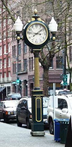 Street Clocks- date back to the days when many people didn't have a watch and relied upon public clocks. These street clocks started being lost and the city of Seattle almost acted too late to save these interesting pieces of history.