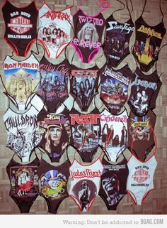 Heavy Metal fashion 80s | Swimsuits for chicks into 80's Metal