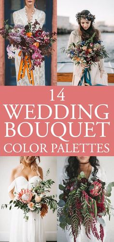 Get inspired by these stunning florals to help you determine the perfect bouquet color palette for your upcoming wedding day!