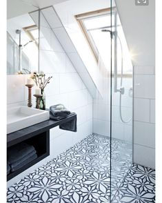 were still loving patterned bathroom floor tiles theres just something so appealing about them
