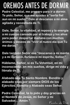 Oscar Garzon's media content and analytics Night Prayer, God Prayer, Prayer Quotes, Bible Quotes, Bible Verses, Catholic Prayers In Spanish, Morning Prayers, Prayer Board, God Loves Me