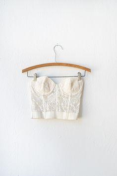 vintage 1950s white lace corset bra [Beloved Stranger Corset Bra] - $58.00 : ADORED | VINTAGE, Vintage Clothing Online Store