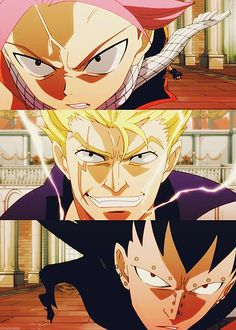 One of my favorite fights!!! Natsu and Gajeel vs Laxus