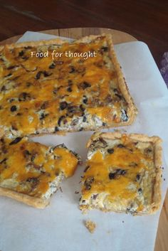 Food for thought: Τάρτες Food For Thought, Cheddar, Quiche, Banana Bread, Cheese, Desserts, Recipes, Buns, Pies