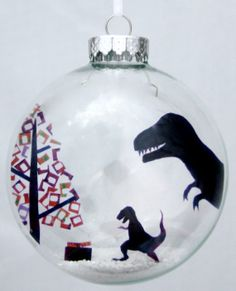 PREORDER T. RexMas  Holiday Ornament by GlakLove on Etsy, $15.00