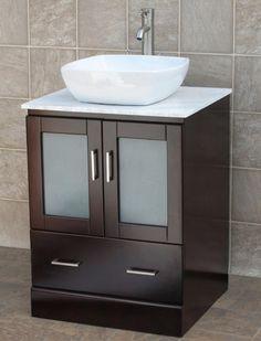 Bathroom Vanity Cabinet Top Sink Single Basin w/Mirror Marble Faucet Vessel. Bathroom Vanity Cabinet Top Sink Single Basin w/Mirror Marble Faucet Glass Sink Bowl Vessel Stainless Drain Faucet Bathroom Vanity Basin Combo Pop Up. Bathroom Basin Cabinet, Vanity Basin, Single Sink Bathroom Vanity, Sink Faucets, Small Bathroom, Bathroom Vanities, Bathroom Ideas, Bathrooms, Bath Ideas