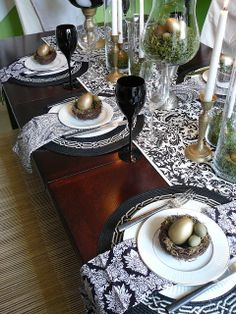 FOCAL POINT STYLING: SPRING TABLESCAPE IDEA: A MODERN NEST