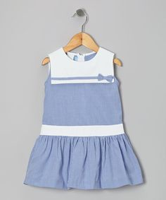 Take a look at this Royal Gingham Sailor Dress - Toddler & Girls by Monday's Child on #zulily today!