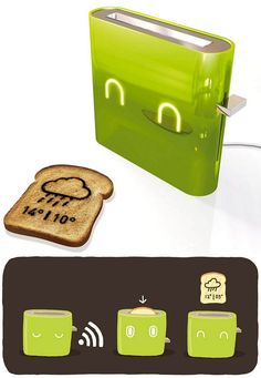 Jamy Toaster Prints the Forecast on Your Breakfast Bread, PERFECT!