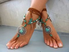 Barefoot Sandals Barefoot Beach Jewelry gemstones Hippie Sandals Foot Jewelry Toe Thong festival accessories for feet, yoga toe, anklet Anklet Jewelry, Beach Jewelry, Anklets, Gemstone Jewelry, Jewellery, Feet Jewelry, Mandala Jewelry, Girls Jewelry, Hippie Jewelry