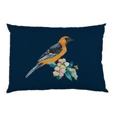 One Bella Casa Yellow Bird Fleece Standard Pillow Case