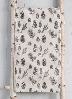 Pinecone Print Table Runner Pinecone, Table Runners, Screen Printing, Quilts, Blanket, Farmhouse, Inspiration, Ideas, Screen Printing Press