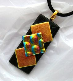 Dichroic Glass  Pendant by kathy2722 on Etsy, $20.00
