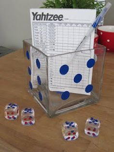 Polka dot stickers make cute bunco decorations. polka dot stickers make cute bunco decorations casino night party Game Night Parties, Casino Night Party, Casino Theme Parties, Themed Parties, Bunco Party, Vegas Party, Party Games, Vegas Theme, Game Night Decorations