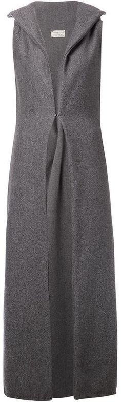 $6,050, Sabine Luise Sleeveless Long Coat. Sold by farfetch.com. Click for more info: http://lookastic.com/women/shop_items/156573/redirect