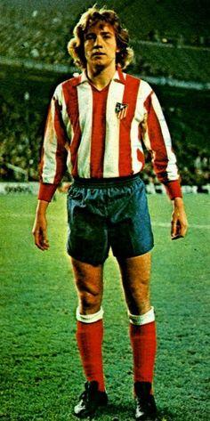 Leivinha of Atletico Madrid & Brazil in 1976.