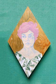Diamond Purple Hair Lady $65 likedaang.etsy