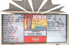 Concession Stand Really Clear Multiple Price Signs Are