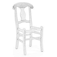 SEDIA IN LEGNO VENEZIA grezza da verniciare con sedile in legno di faggio massello