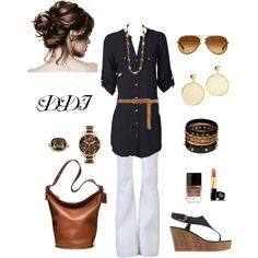 Black, White and Brown, created by dawndayiannelli on Polyvore