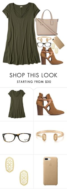 """""""#newavi"""" by legitimately-kierstin ❤ liked on Polyvore featuring Hollister Co., H London, Ray-Ban, Kendra Scott and Kate Spade"""