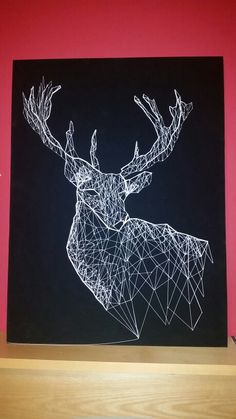 Stag string art